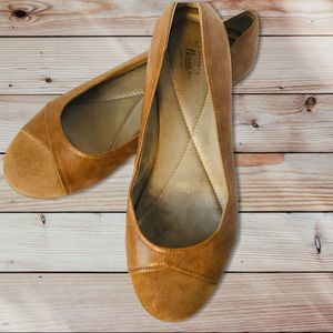 GH Bass & Co Michelle Tan Leather Suede Flats 11